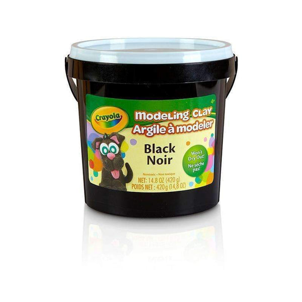 1 LB BUCKET MODELING CLAY BLACK-Arts & Crafts-JadeMoghul Inc.