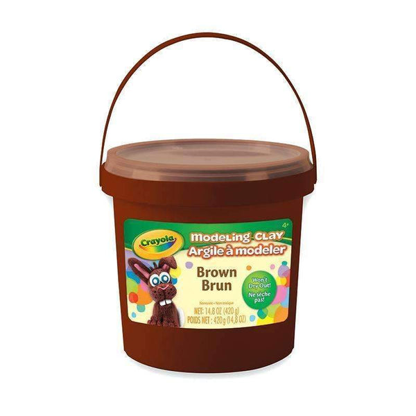 1 LB BUCKET MODELING CLAY BROWN-Arts & Crafts-JadeMoghul Inc.
