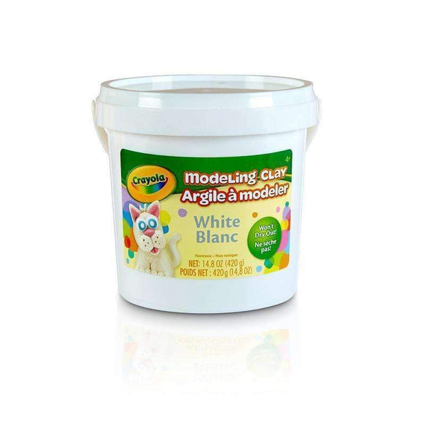 1 LB BUCKET MODELING CLAY WHITE-Arts & Crafts-JadeMoghul Inc.