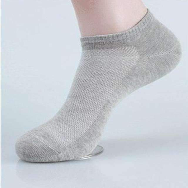 10 Pairs - Casual Men Ankle Socks / Compression Socks Slippers-Gray-One Size-JadeMoghul Inc.