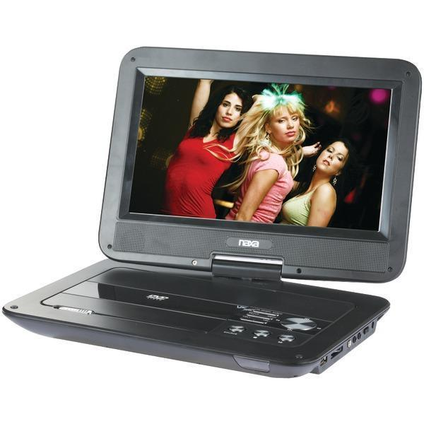 "10"" TFT/LCD Swivel-Screen Portable DVD Player-DVD Players & Recorders-JadeMoghul Inc."