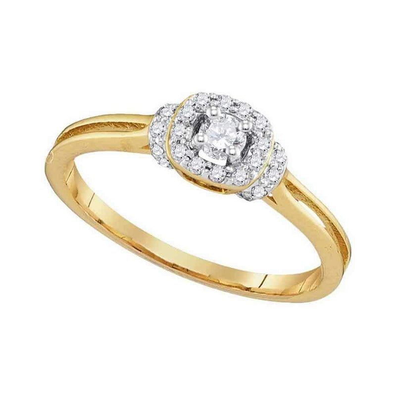 10kt Yellow Gold Women's Round Diamond Solitaire Bridal Wedding Engagement Ring 1/4 Cttw - FREE Shipping (US/CAN)-Gold & Diamond Engagement & Anniversary Rings-9.5-JadeMoghul Inc.