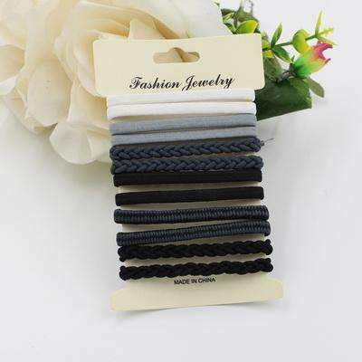 10pcs/pack Hair Tie Set 2016 Women Fashion Hair Bands Hair Accessories Trendy Hairband For Women Elastic Sets Braid Elastic-C Color-JadeMoghul Inc.