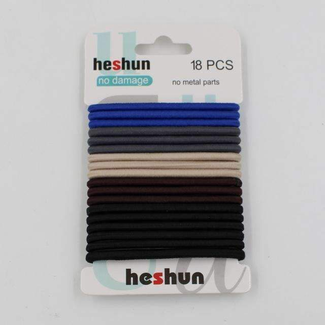 10pcs/pack Hair Tie Set 2016 Women Fashion Hair Bands Hair Accessories Trendy Hairband For Women Elastic Sets Braid Elastic-L Color-JadeMoghul Inc.