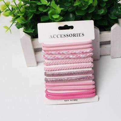 10pcs/pack Hair Tie Set 2016 Women Fashion Hair Bands Hair Accessories Trendy Hairband For Women Elastic Sets Braid Elastic-M Color-JadeMoghul Inc.