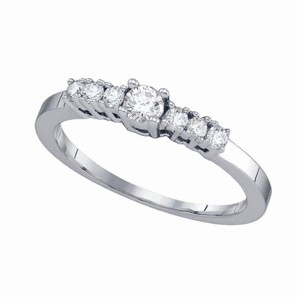 14kt White Gold Women's Diamond Bridal or Engagement Ring 1/3 Cttw-Gold & Diamond Wedding Jewelry-JadeMoghul Inc.