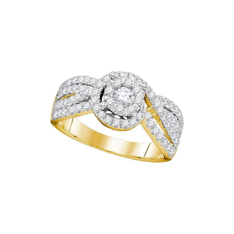 14kt Yellow Gold Women's Round Diamond Solitaire Bridal Wedding Engagement Ring 1.00 Cttw - FREE Shipping (US/CAN)-Gold & Diamond Engagement & Anniversary Rings-6-JadeMoghul Inc.