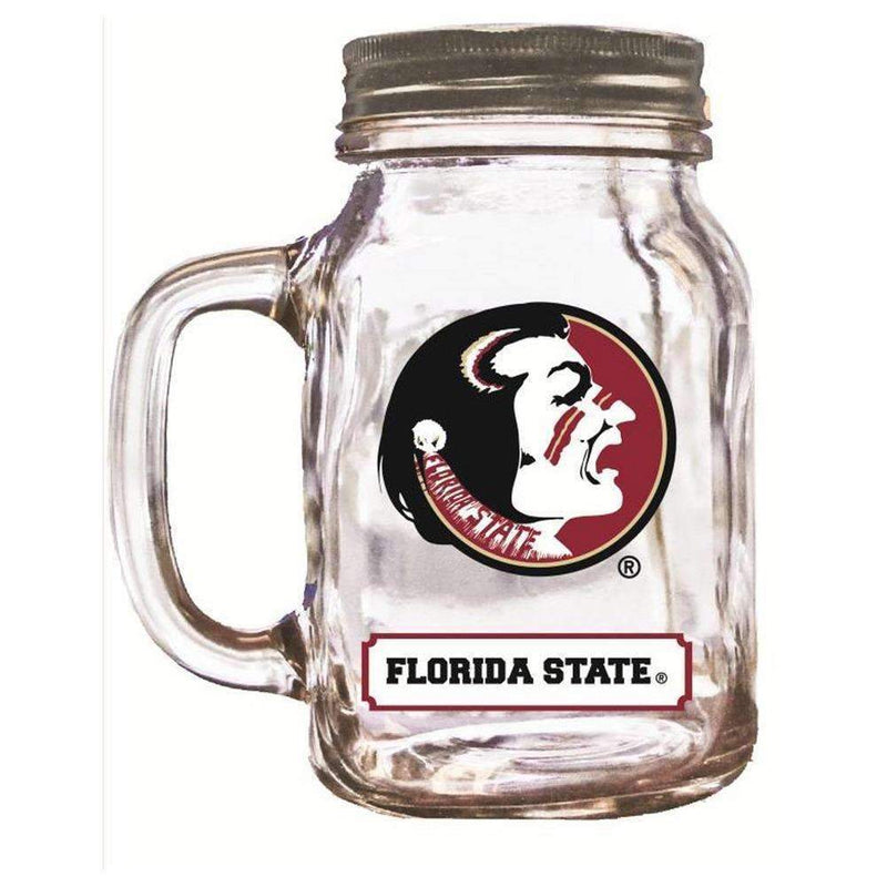 16Oz Mason Jar Florida State Seminoles-Party Goods/Housewares-JadeMoghul Inc.