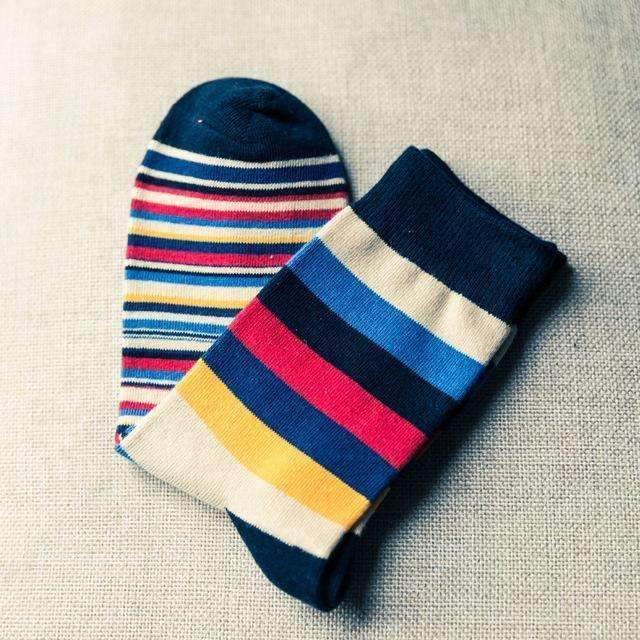 1Pair Men Funny 3D Socks Calcetines Happy Socks For Men Chaussette Homme Colorful Striped Meias Warm Socks Compression Sokken-AS Picture 2-One Size-JadeMoghul Inc.