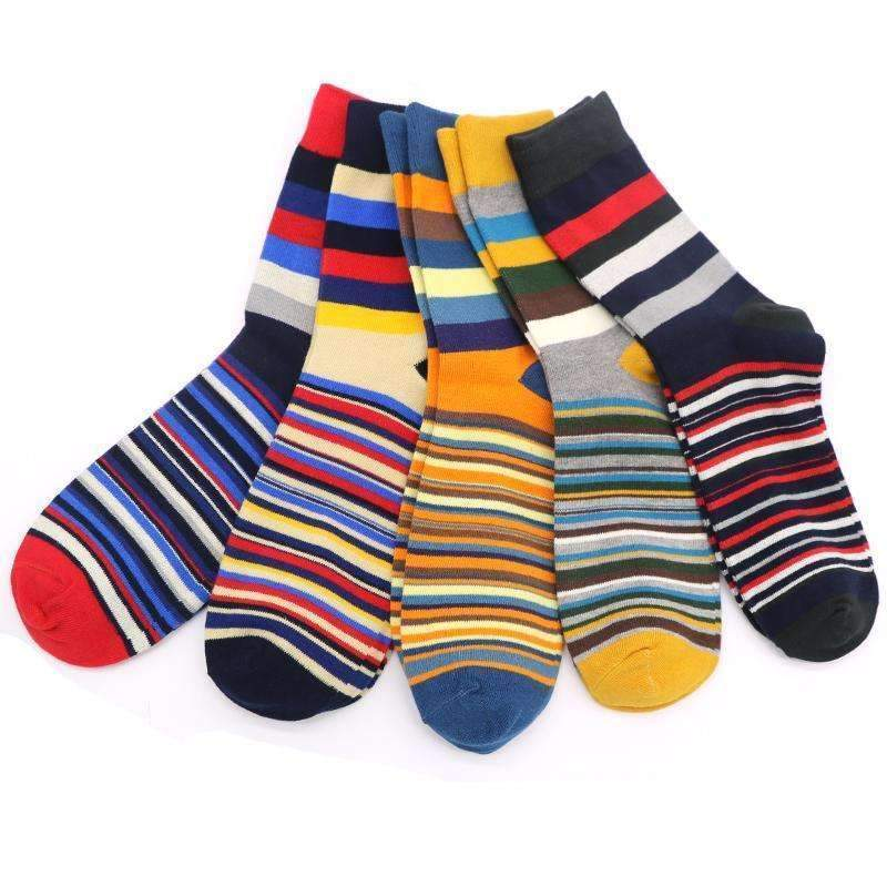 1Pair Men Funny 3D Socks Calcetines Happy Socks For Men Chaussette Homme Colorful Striped Meias Warm Socks Compression Sokken-AS Picture-One Size-JadeMoghul Inc.
