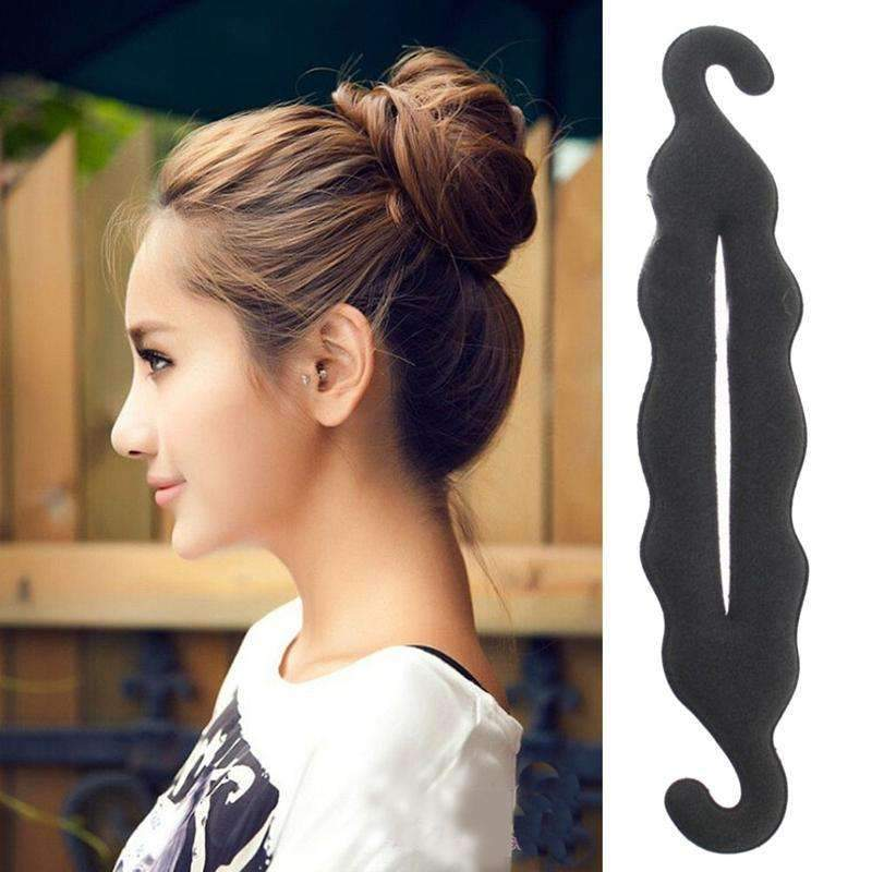 1Pcs Women Magic Foam Sponge Hairdisk Hair Device Donut Quick Messy Bun Updo Hair Clip Hair Accessories Hair Styling Tools--JadeMoghul Inc.