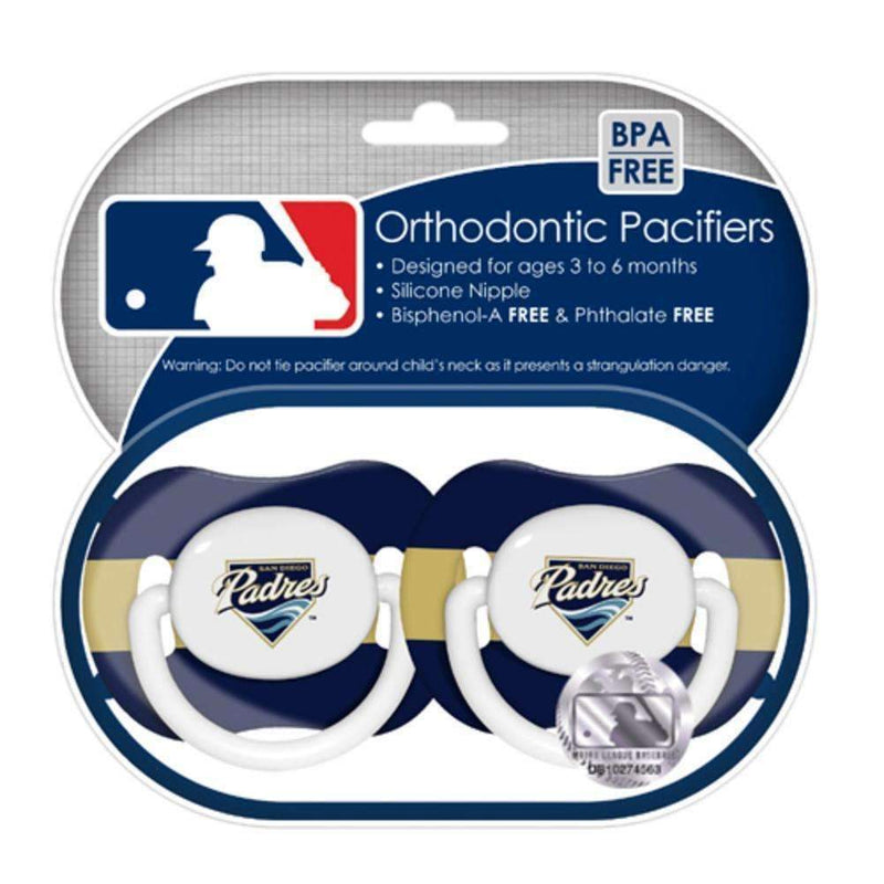 2-Pack Pacifiers - San Diego Padres-LICENSED NOVELTIES-JadeMoghul Inc.