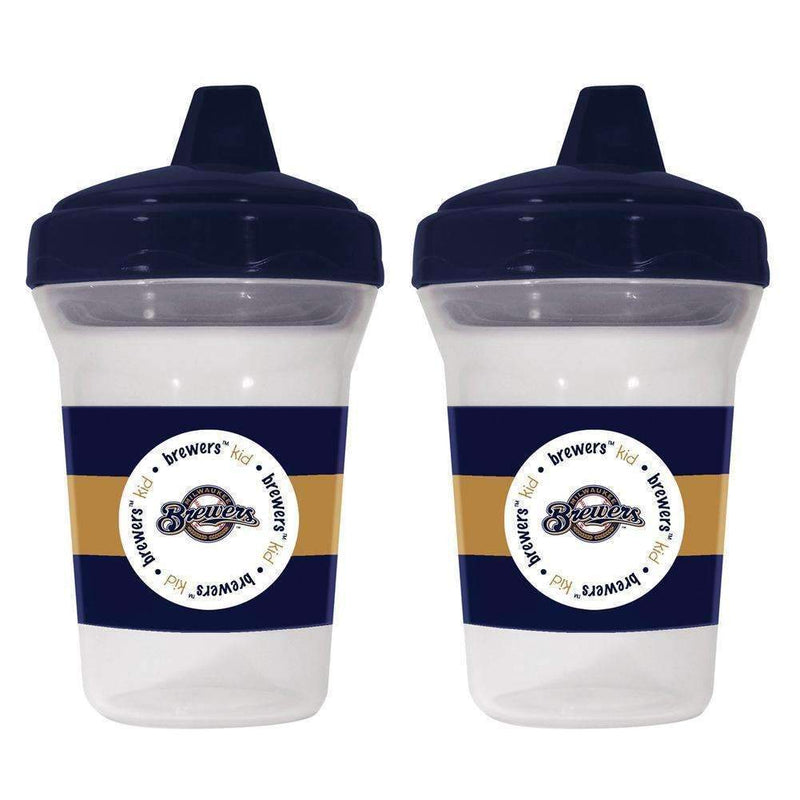 2-Pack Sippy Cups - Milwaukee Brewers-LICENSED NOVELTIES-JadeMoghul Inc.