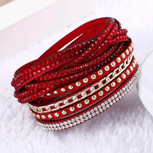 2016 New Unisex Multilayer Leather Bracelet Christmas Gift Charm Bracelets Vintage Jewelry For Women Pulsera-1-JadeMoghul Inc.