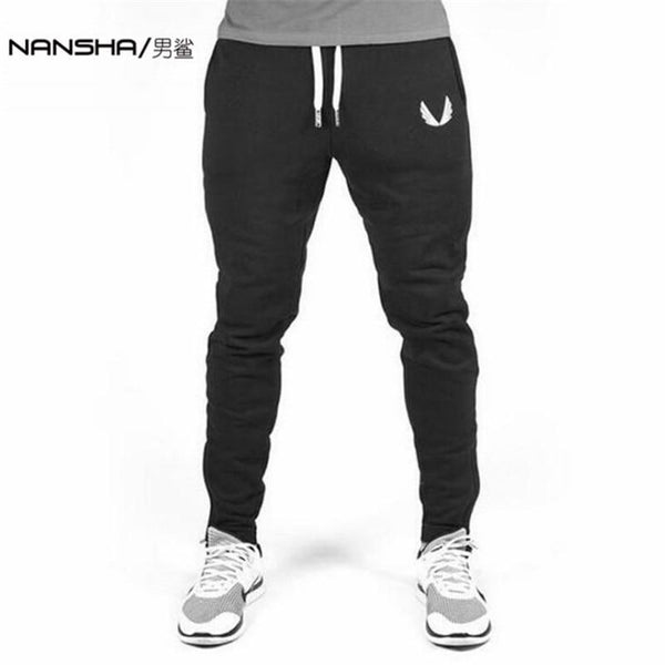 2017 High Quality Jogger Pants Men Fitness Bodybuilding Gyms Pants For Runners Brand Clothing Autumn Sweat Trousers Britches-Black-M-JadeMoghul Inc.