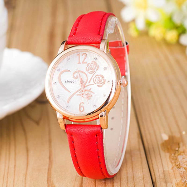 Fashion School Girl Hot-Selling Fluorescence Color PU Watch