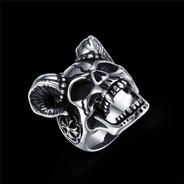 Powerful Men Party Punk Style Star Shape Stainless Steel Ring