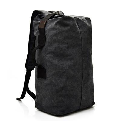 Large-Capacity Canvas MMJ 15.6 Inch Casual Mens Backpack Vintage Travel Bag Color : Khaki, Size : L