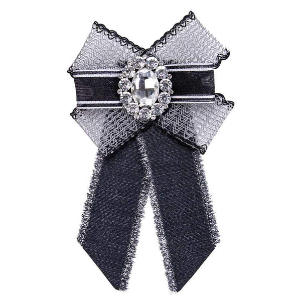Good Grade Popular Bowknot Inlay Glass Lace Women Brooch