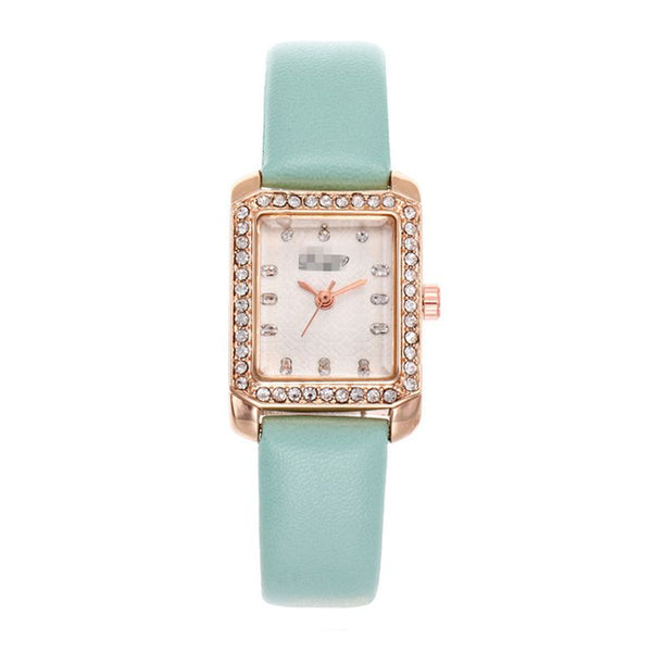 Luxury Trendy Rhinestone Rectangle Shape Dial Womens Wrist Clock Dress Watches Relojes Hombre