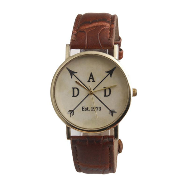 "Creative Vogue ""ADD"" Personality Symbols Round Dial Vogue College Style Leather Wrist Watches"