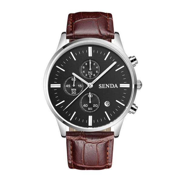 Hot Sale Fashion Classic Men Good Quality Leather Band Waterproof Watch