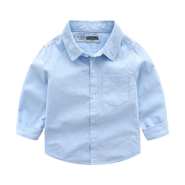 Boys Cotton Solid Color Shirts