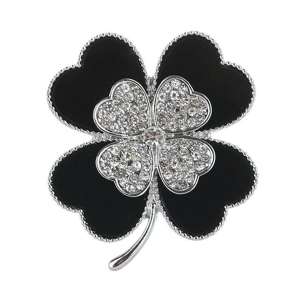 Fashion Unique Clover Shaped Alloy Enameled Brooch