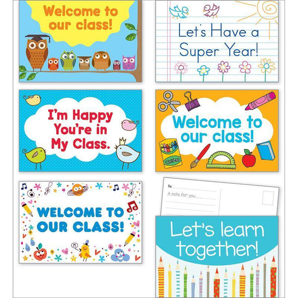 (3 EA) BACK TO SCHOOL POSTCARDS-Learning Materials-JadeMoghul Inc.