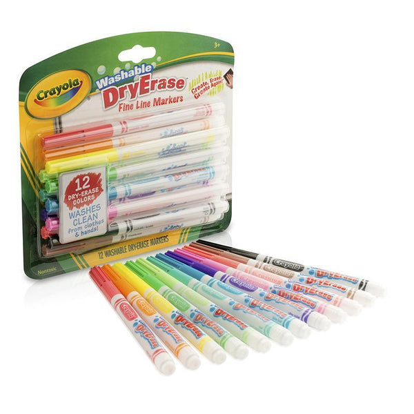 (3 PK) CRAYOLA COLOR WASHABLE DRY-Arts & Crafts-JadeMoghul Inc.