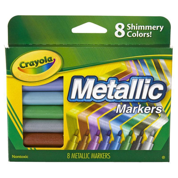(3 PK) CRAYOLA METALLIC MARKERS-Arts & Crafts-JadeMoghul Inc.