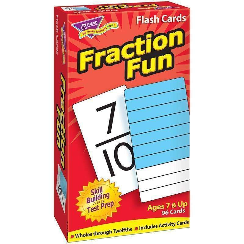 (3 PK) FLASH CARDS FRACTION FUN 96-Learning Materials-JadeMoghul Inc.