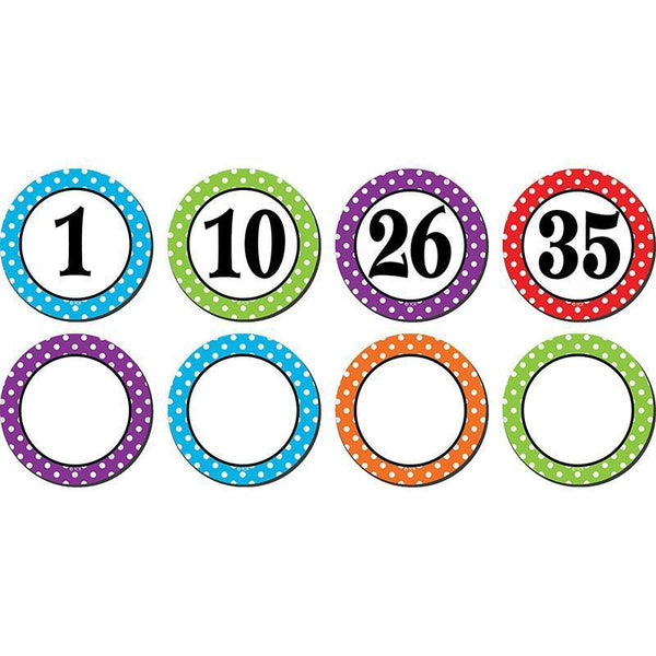 (3 Pk) Polka Dots Numbers Magnetic-Learning Materials-JadeMoghul Inc.