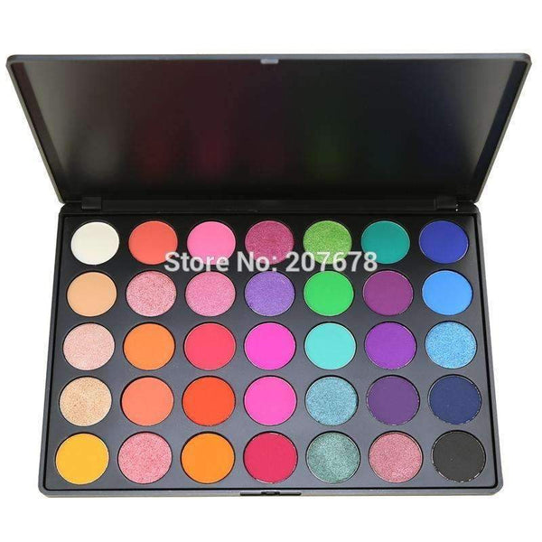 35 Color Eyeshadow Palette Silky Powder Professional Make up Pallete Product Cosmetics Smoky/Warm Makeup Eye Shadow 35E--JadeMoghul Inc.