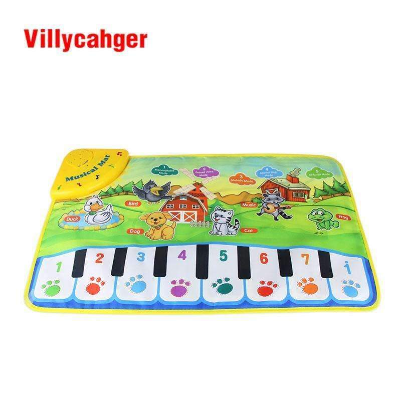 37x60cm baby musical carpet Children Play Mat baby Piano Music gift baby educational mat Electronic toys for kids--JadeMoghul Inc.