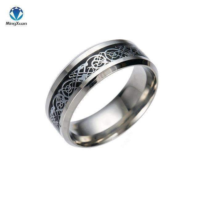 4 COLORS Vintage Gold Free Shipping Dragon 316L stainless steel Ring Mens Jewelry for Men lord Wedding Band male ring for lovers-5-Black-JadeMoghul Inc.