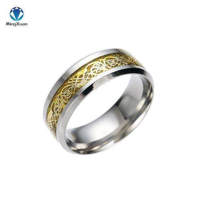 4 COLORS Vintage Gold Free Shipping Dragon 316L stainless steel Ring Mens Jewelry for Men lord Wedding Band male ring for lovers-5-Gold-JadeMoghul Inc.