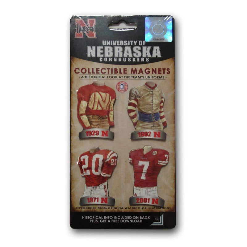 4 Pack Uniform Magnet Set - Ncaa - University of Nebraska-LICENSED NOVELTIES-JadeMoghul Inc.