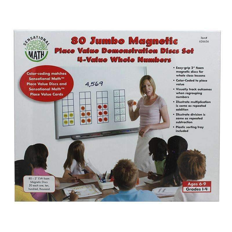 4-VALUE JUMBO MAGNETIC PLACE VALUE-Learning Materials-JadeMoghul Inc.