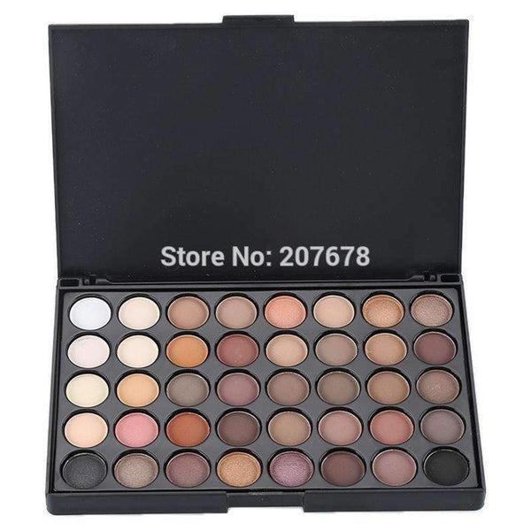 40 Colors Smoky Matte Eyeshadow Pallete Mixed Color Baking Powder Eye Shadow Palette Naked Nude Glitter Cosmetic Set--JadeMoghul Inc.