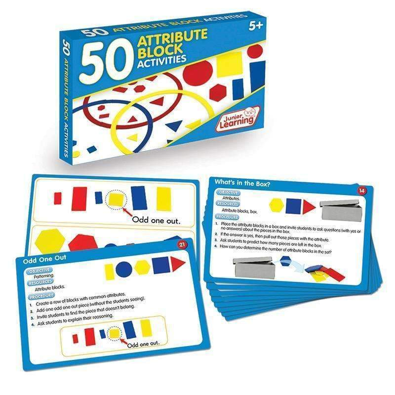 50 ATTRIBUTE BLOCK ACTIVITIES-Learning Materials-JadeMoghul Inc.