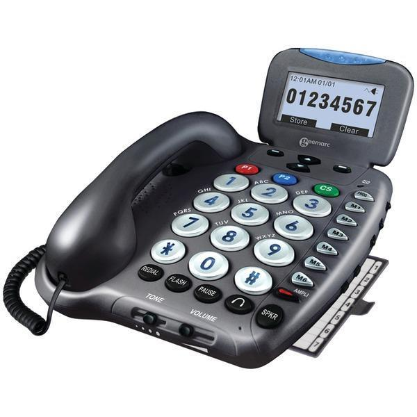 50dB Amplified Telephone with Talking Caller ID-Special Needs Phones-JadeMoghul Inc.