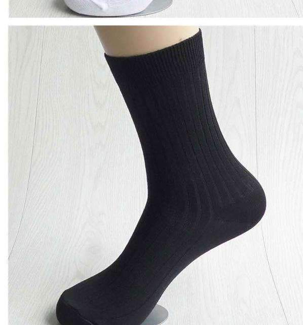 5pairs Men Dress Socks-black-42 to 43 EU-JadeMoghul Inc.