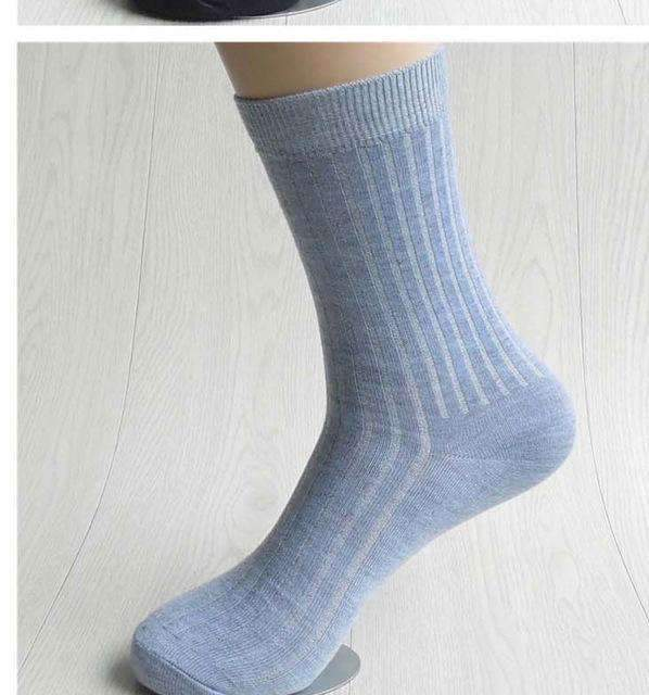 5pairs Men Dress Socks-gray-42 to 43 EU-JadeMoghul Inc.