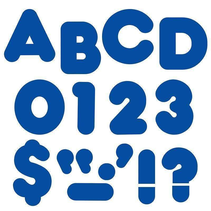 (6 PK) READY LETTERS 3IN ROYAL BLUE-Learning Materials-JadeMoghul Inc.