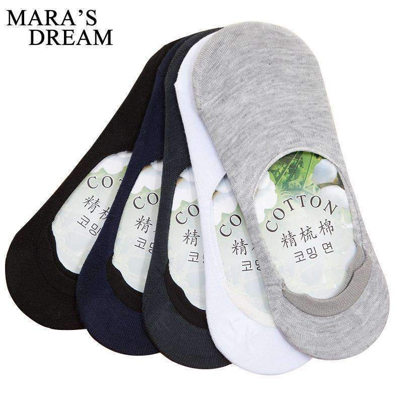 6pcs=3pairs/lot Men Boat Socks Summer Fashion Non-slip Silicone Invisible Cotton Socks Male Ankle Socks White Sock slippers-A-JadeMoghul Inc.