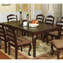 "78"" Dining Table, Dark Walnut Brown-Dining Tables-Brown-Wood-JadeMoghul Inc."