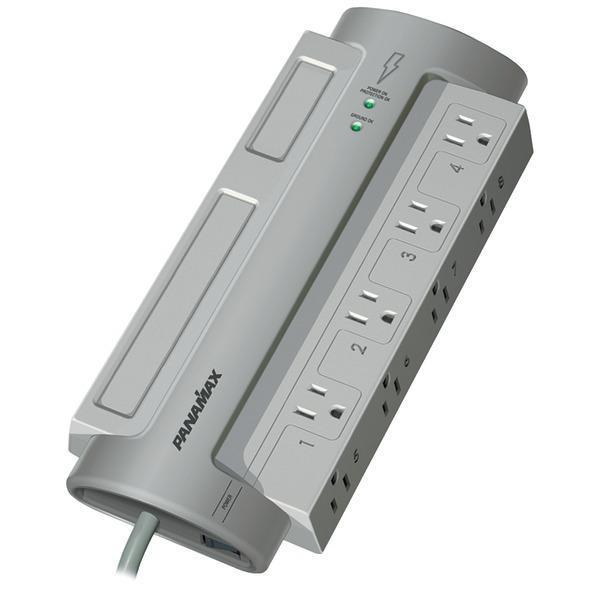 8-Outlet PowerMax(R) PM8-EX Surge Protector (without Satellite & CATV Protection)-Surge Protectors-JadeMoghul Inc.