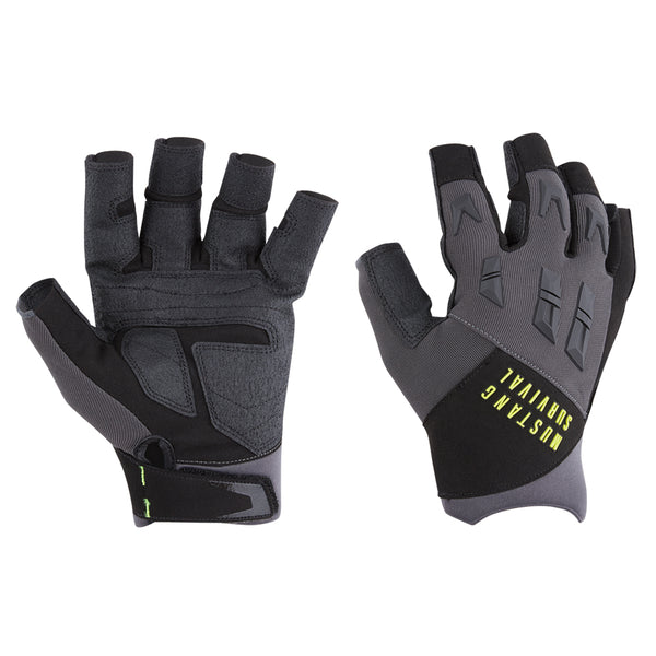 Mustang EP 3250 Open Finger Gloves - Large - Grey-Black [MA6004-02-L-262]