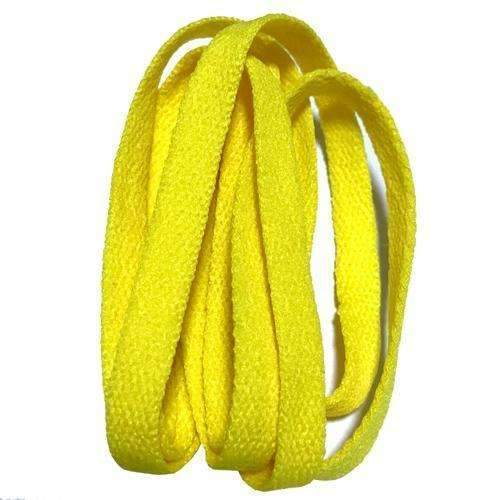 8mm Wide of Flat Shoelaces Shoe Laces for Sneakers Sport Shoes 24 Colors 80cm / 100cm / 120cm / 140cm / 160cm-No 5 yellow-100cm-JadeMoghul Inc.